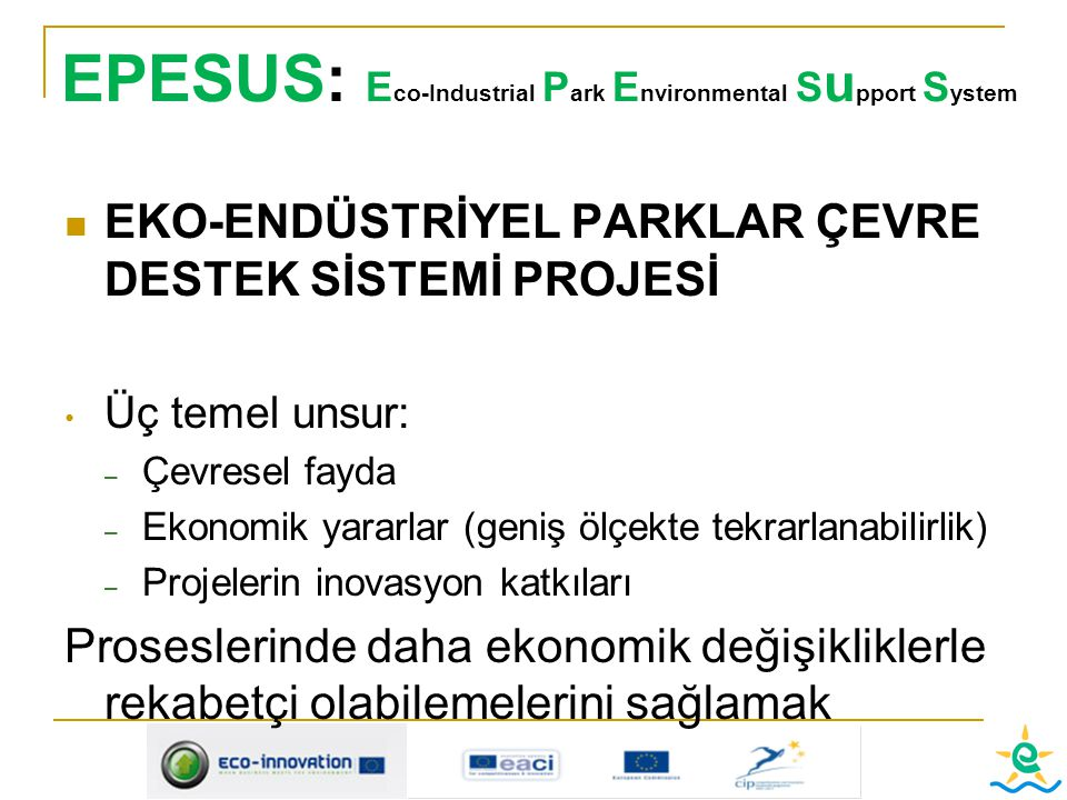 EPESUS: Eco-Industrial Park Environmental Support System