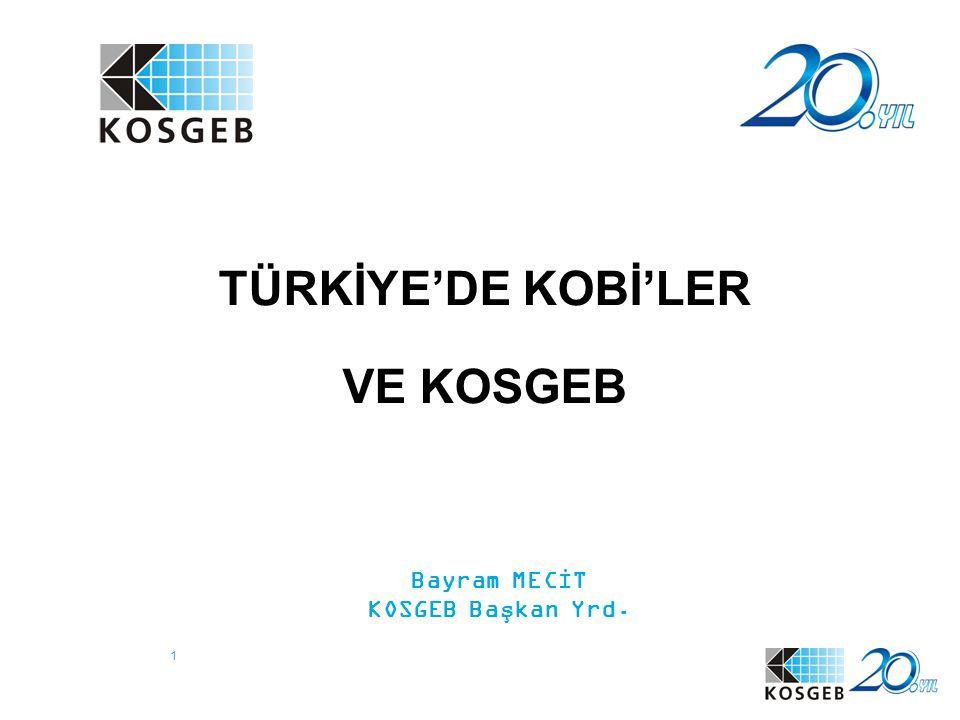 TÜRKİYE'DE KOBİ'LER VE KOSGEB