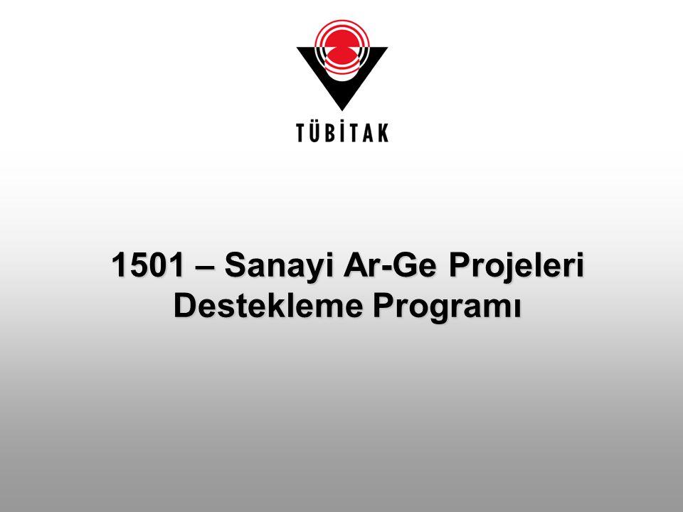 1501 – Sanayi Ar-Ge Projeleri Destekleme Programı