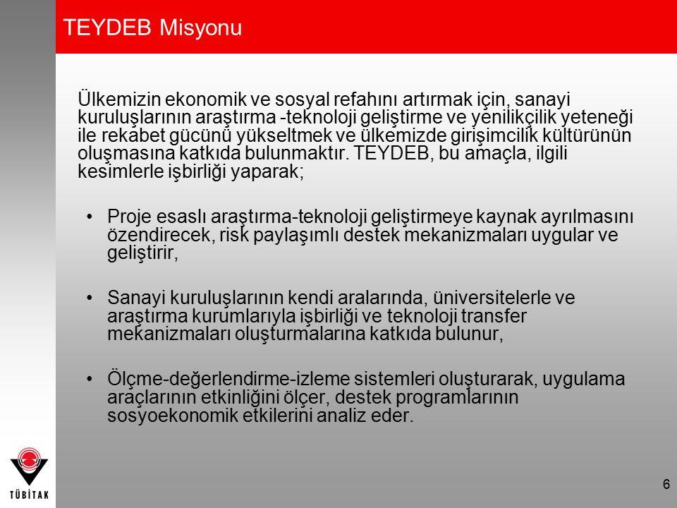 TEYDEB Misyonu