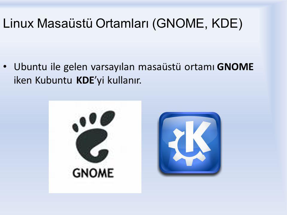 Linux Masaüstü Ortamları (GNOME, KDE)