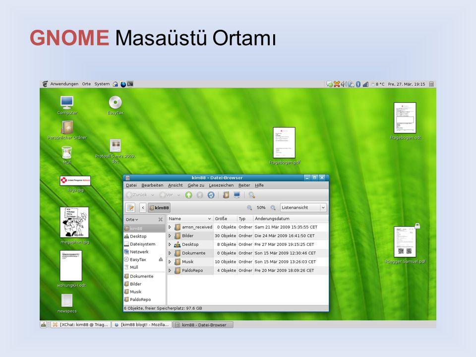 GNOME Masaüstü Ortamı