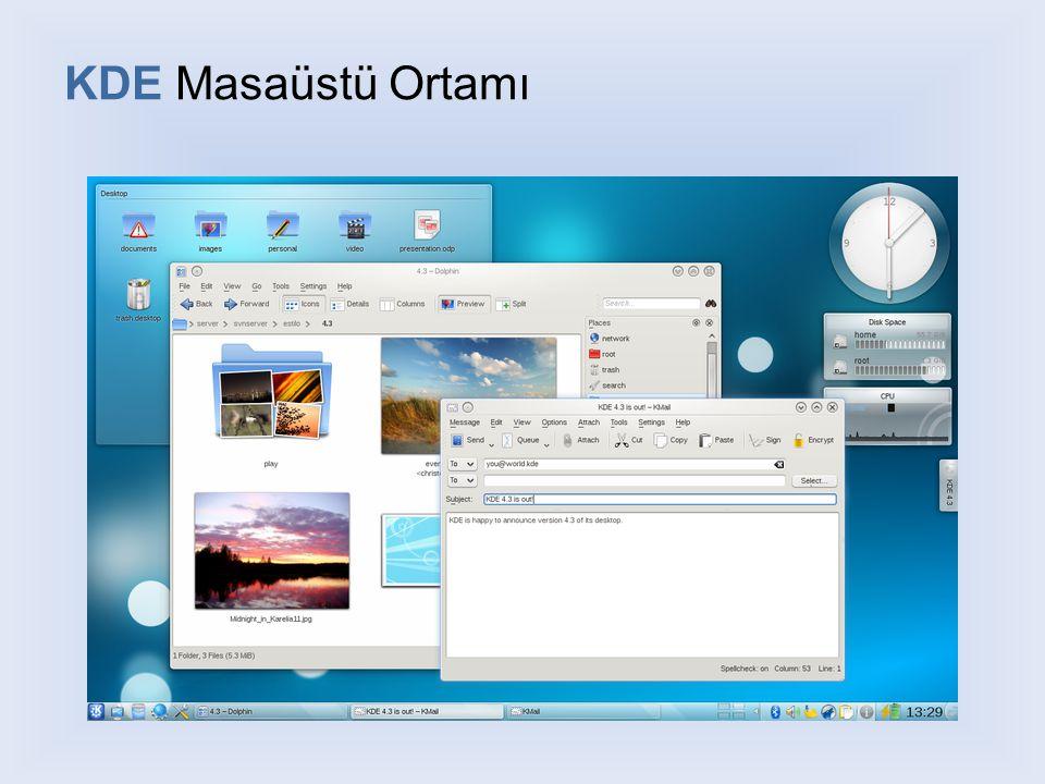 KDE Masaüstü Ortamı