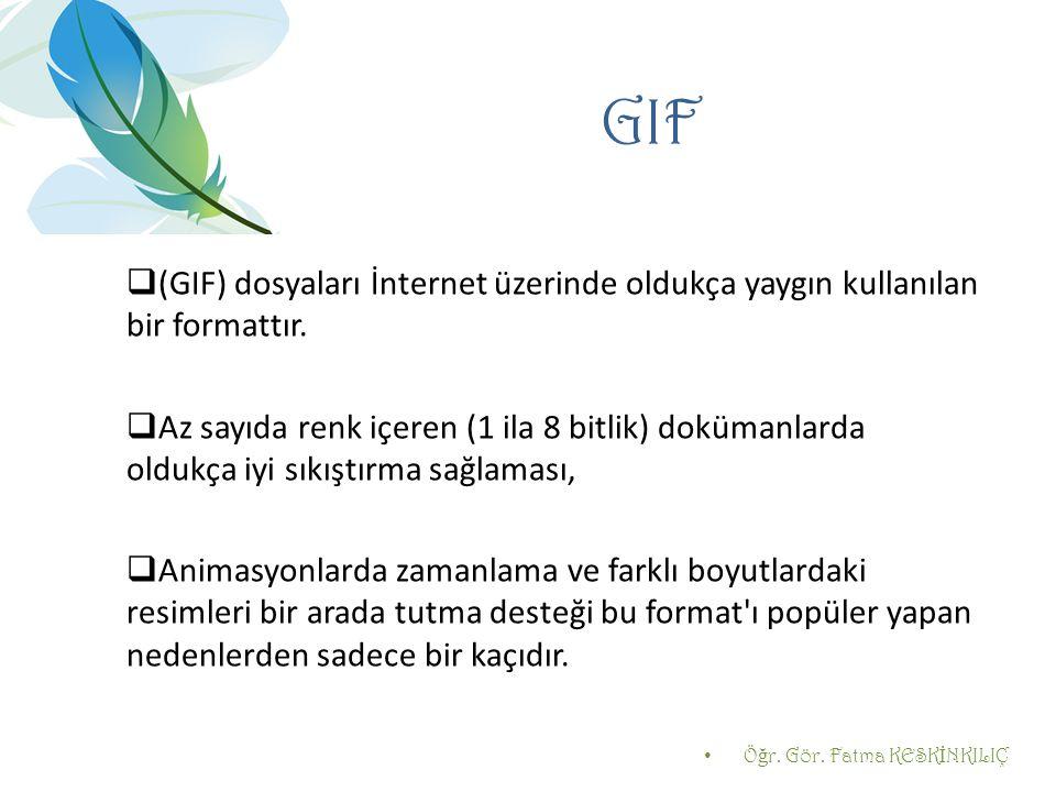 GIF (GIF) dosyaları İnternet üzerinde oldukça yaygın kullanılan bir formattır.