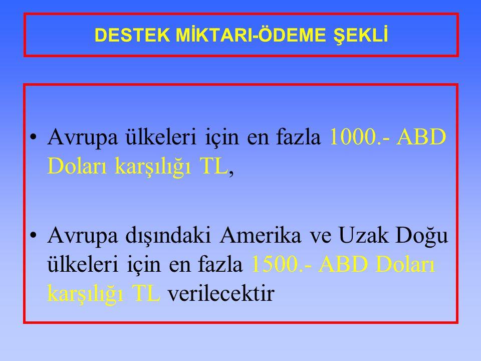 DESTEK MİKTARI-ÖDEME ŞEKLİ