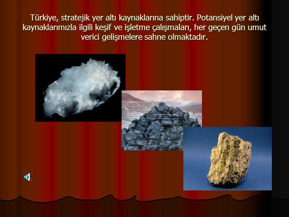 Türkiye, stratejik yer altı kaynaklarına sahiptir