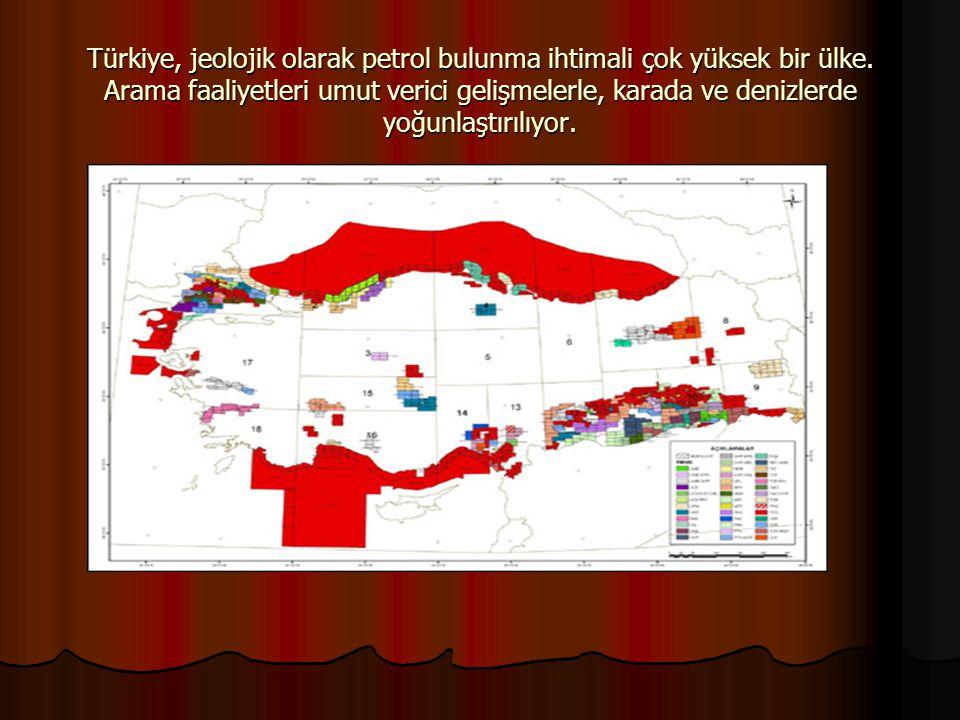 Türkiye, jeolojik olarak petrol bulunma ihtimali çok yüksek bir ülke