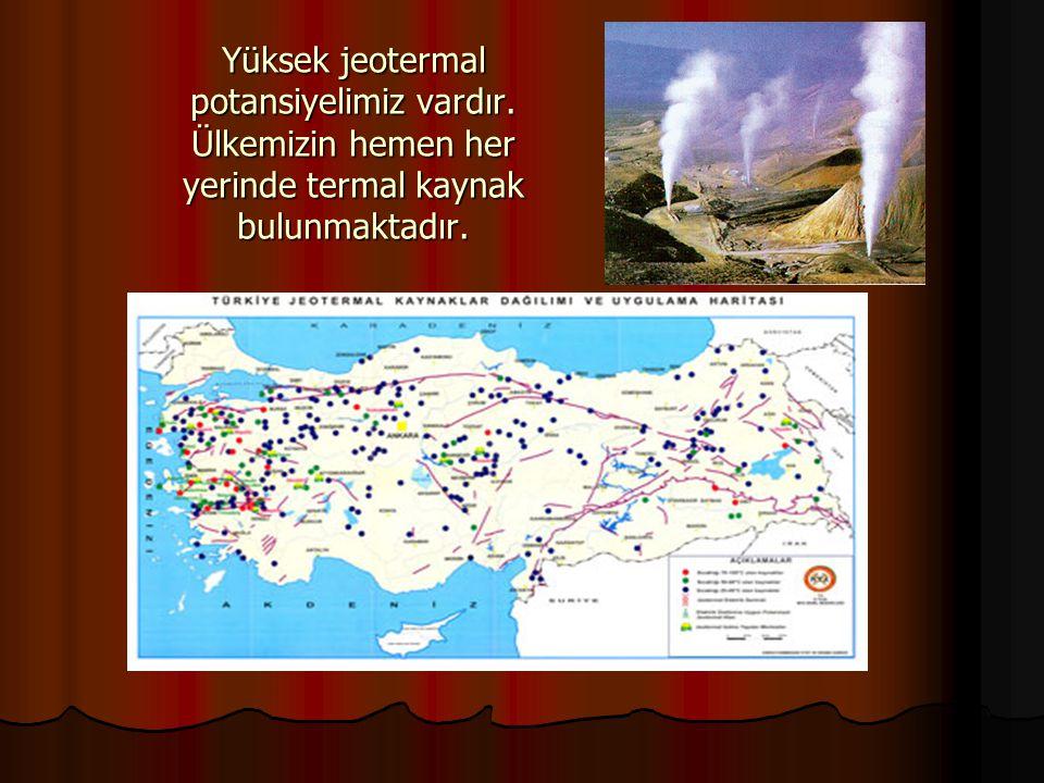 Yüksek jeotermal potansiyelimiz vardır