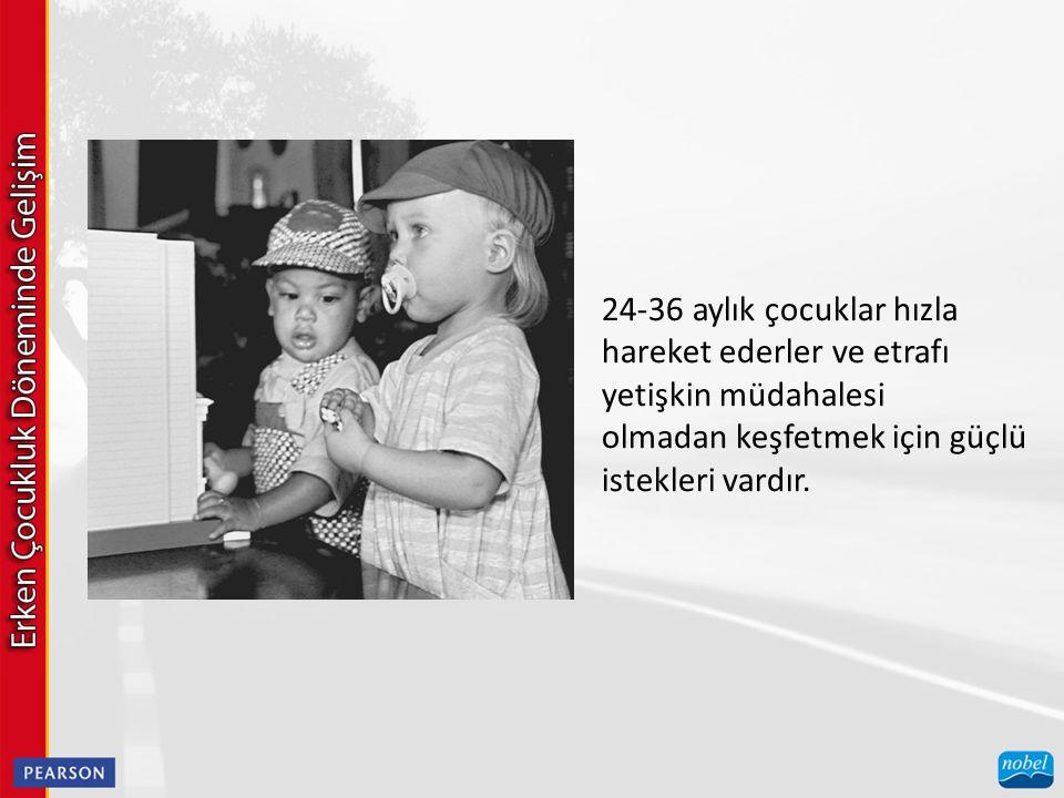 24-36 aylık çocuklar hızla hareket ederler ve etrafı yetişkin müdahalesi