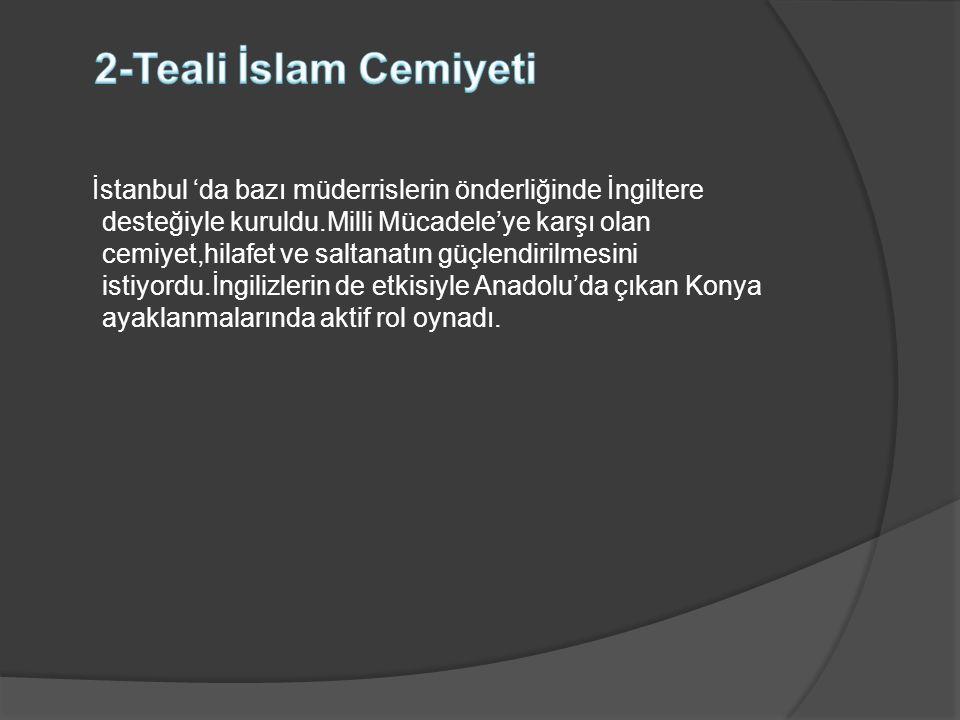 2-Teali İslam Cemiyeti