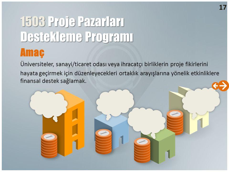 1503 Proje Pazarları Destekleme Programı Amaç