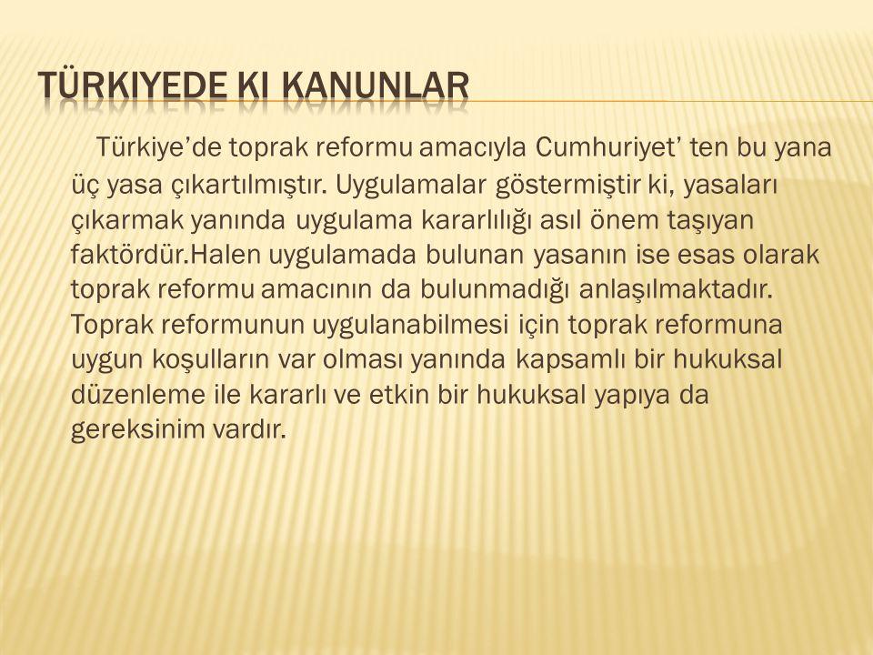 Türkiyede ki kanunlar