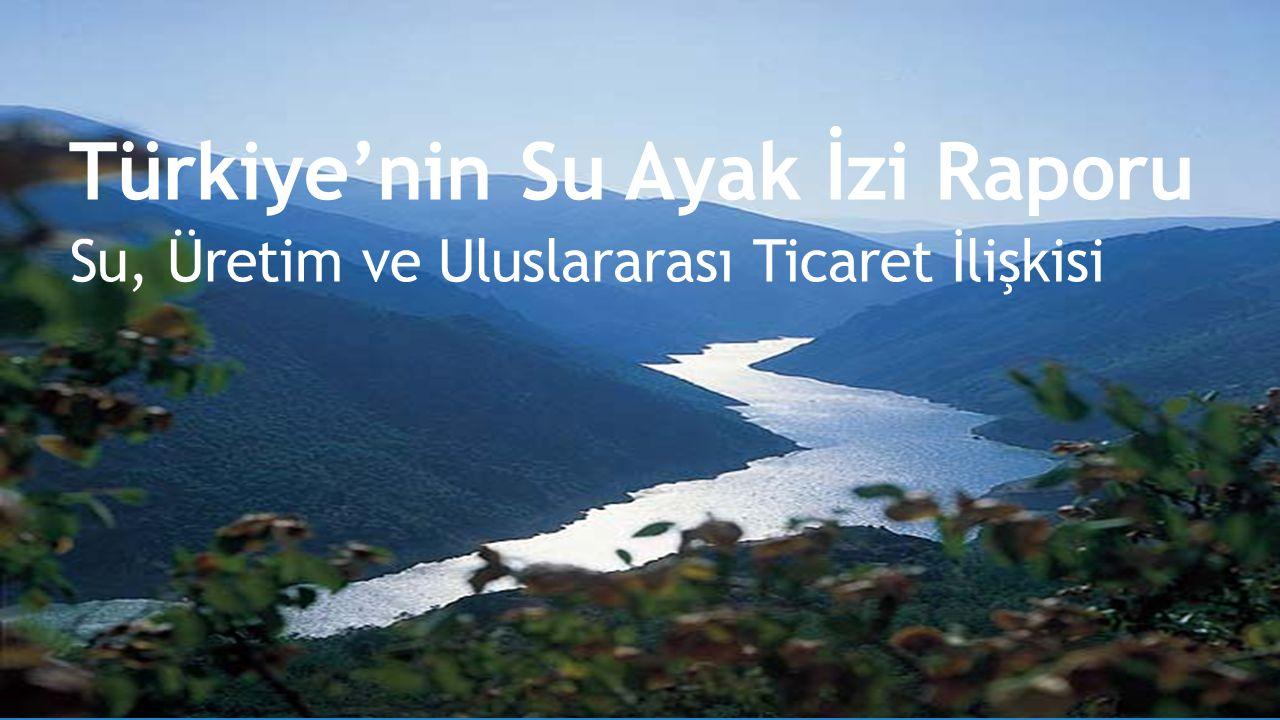 Türkiye'nin Su Ayak İzi Raporu Su, Üretim ve Uluslararası Ticaret İlişkisi