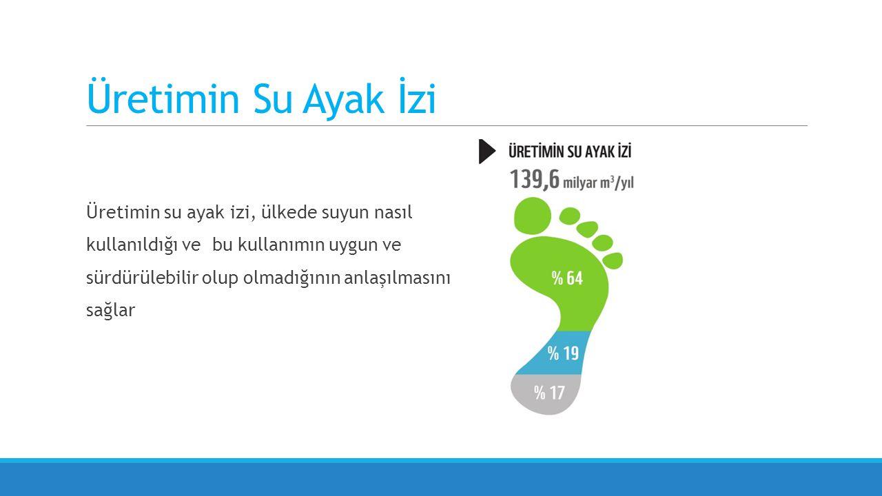 Üretimin Su Ayak İzi Üretimin su ayak izi, ülkede suyun nasıl