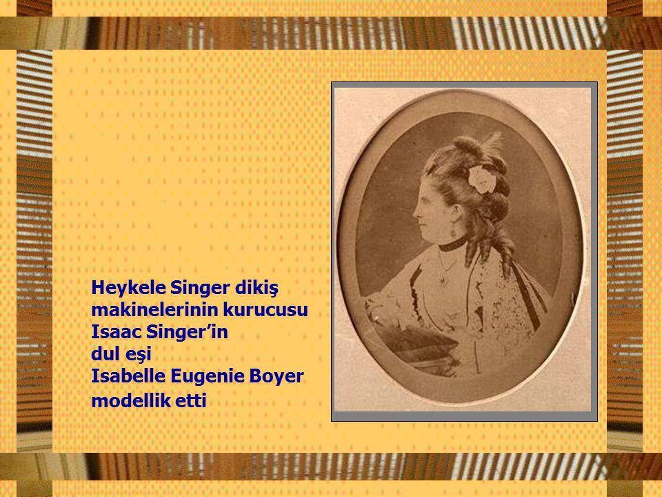 Heykele Singer dikiş makinelerinin kurucusu