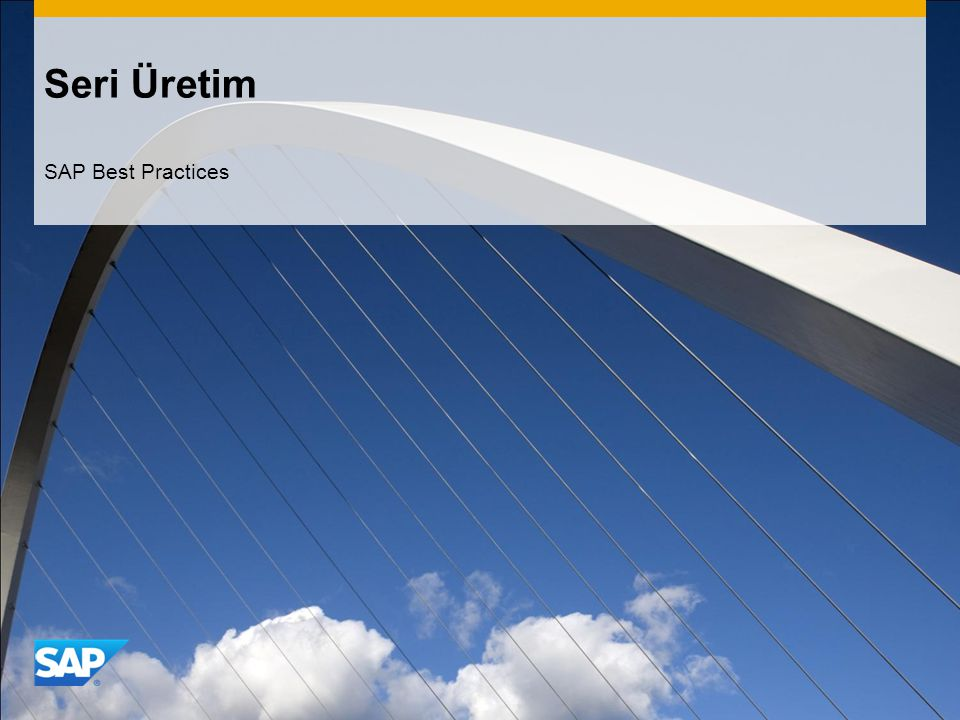Seri Üretim SAP Best Practices