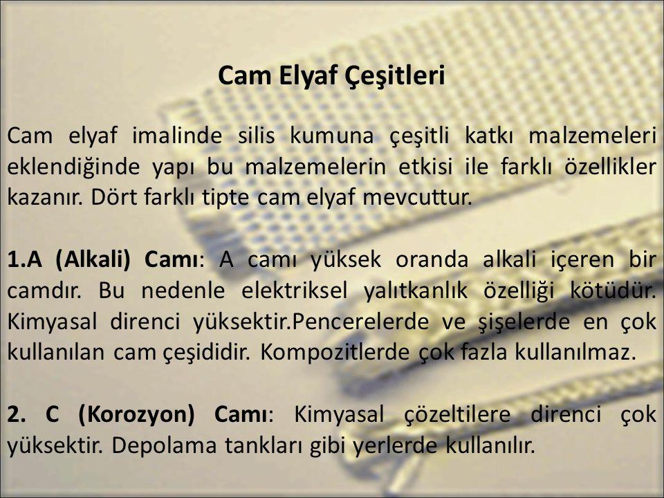 Cam Elyaf Çeşitleri