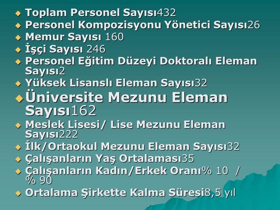 Üniversite Mezunu Eleman Sayısı162