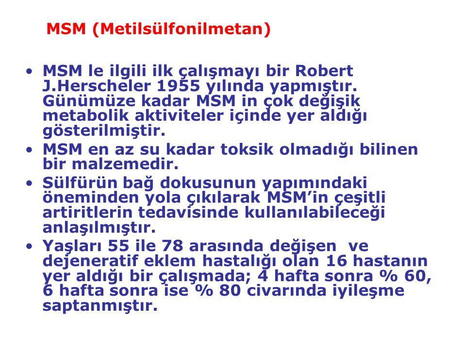 MSM (Metilsülfonilmetan)