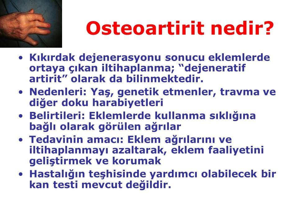 Osteoartirit nedir Kıkırdak dejenerasyonu sonucu eklemlerde ortaya çıkan iltihaplanma; dejeneratif artirit olarak da bilinmektedir.