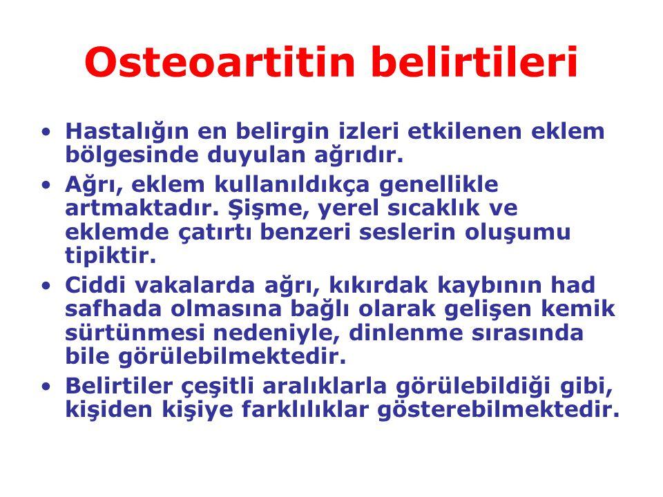 Osteoartitin belirtileri