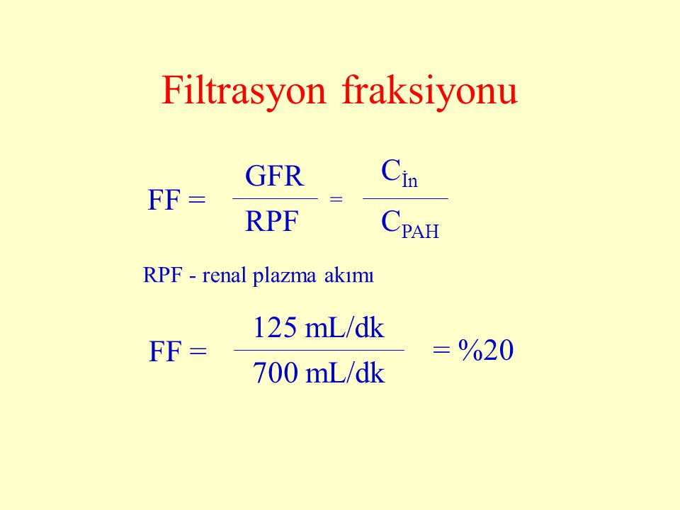 Filtrasyon fraksiyonu
