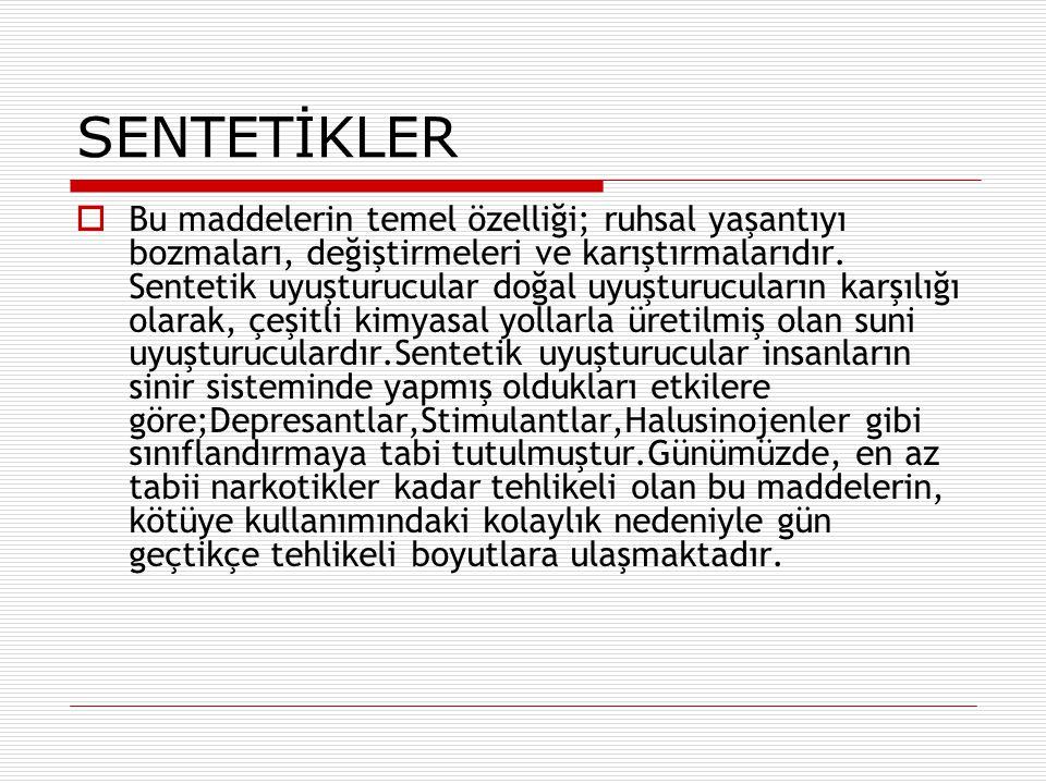 SENTETİKLER