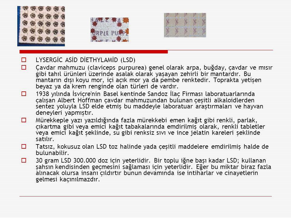 LYSERGİC ASİD DİETHYLAMİD (LSD)