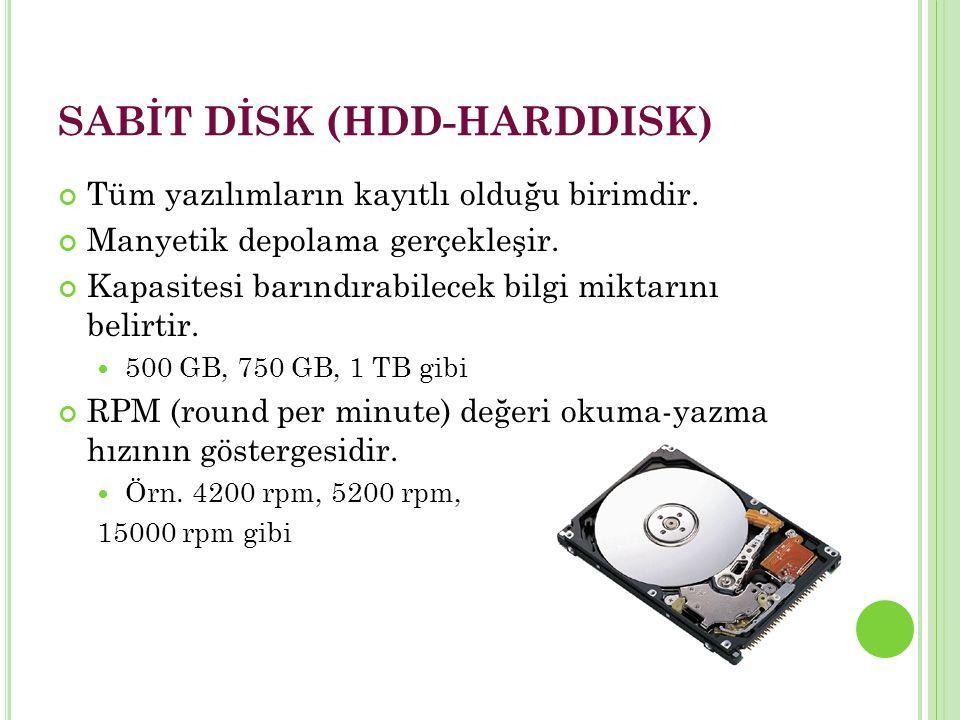 SABİT DİSK (HDD-HARDDISK)