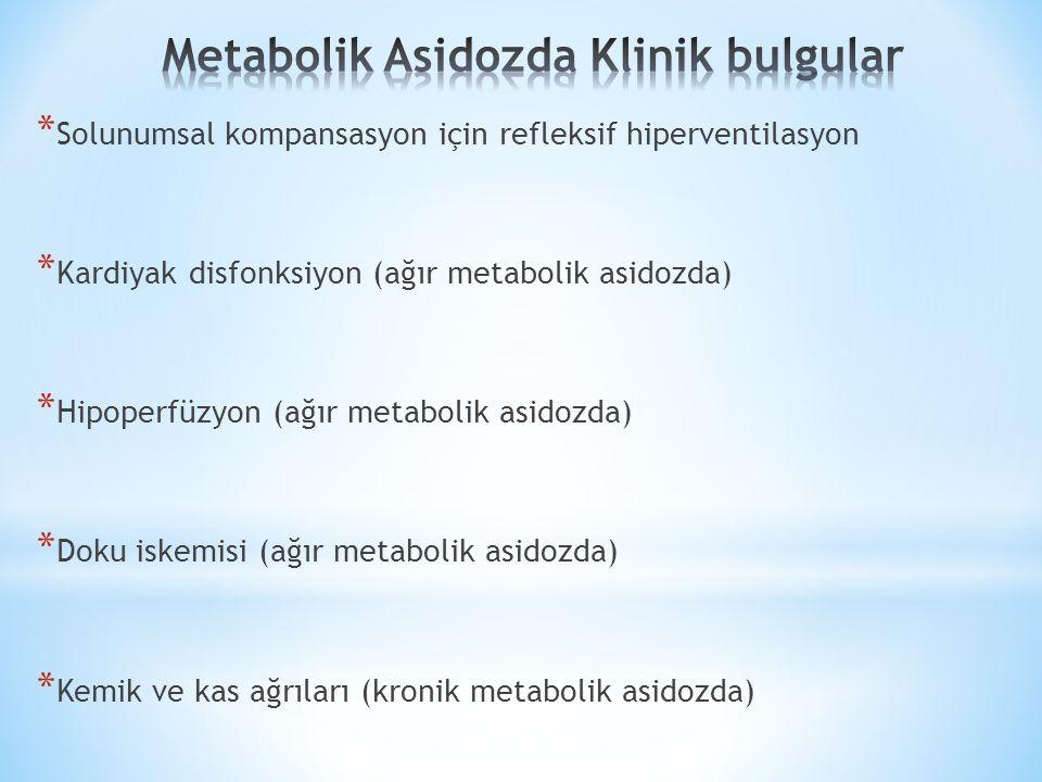 Metabolik Asidozda Klinik bulgular