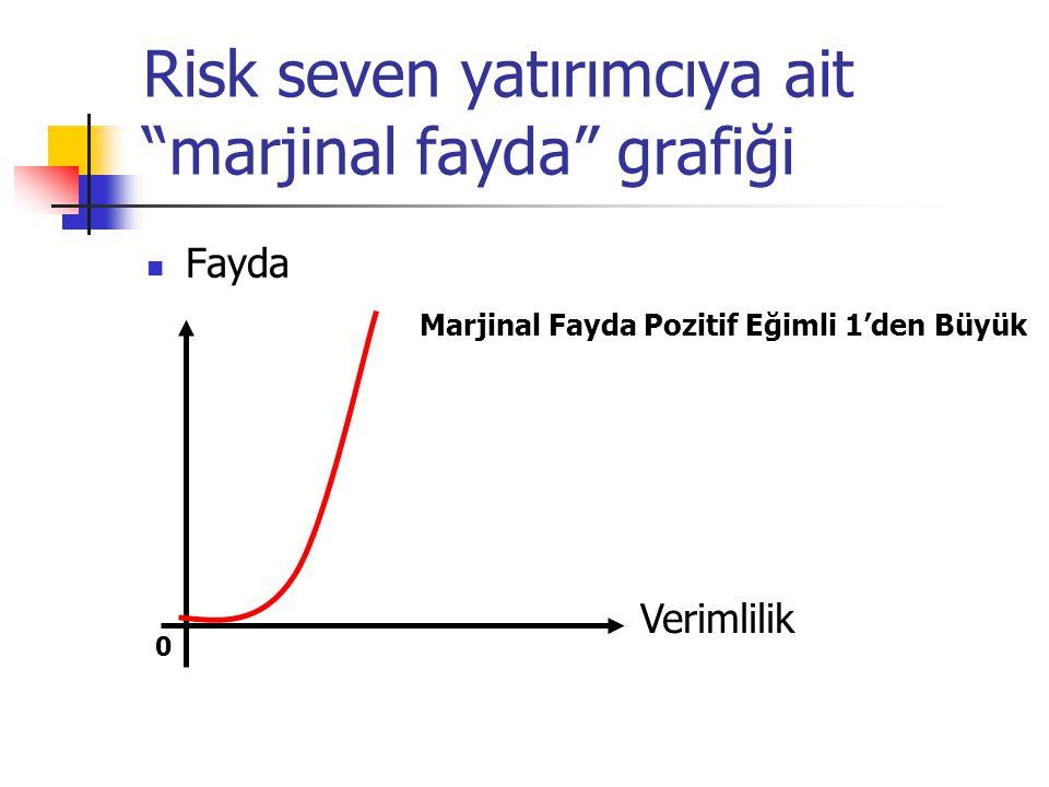 Risk seven yatırımcıya ait marjinal fayda grafiği