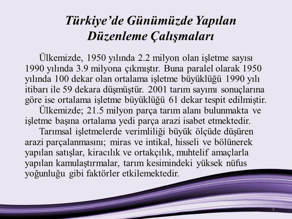 Türkiye'de Günümüzde Yapılan Düzenleme Çalışmaları