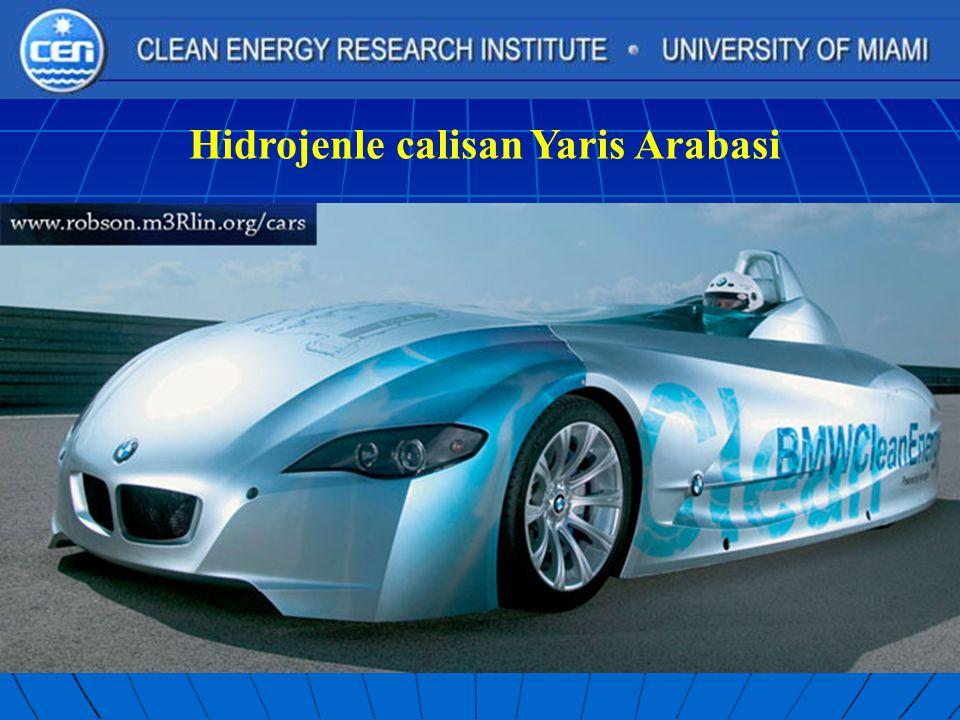 Hidrojenle calisan Yaris Arabasi