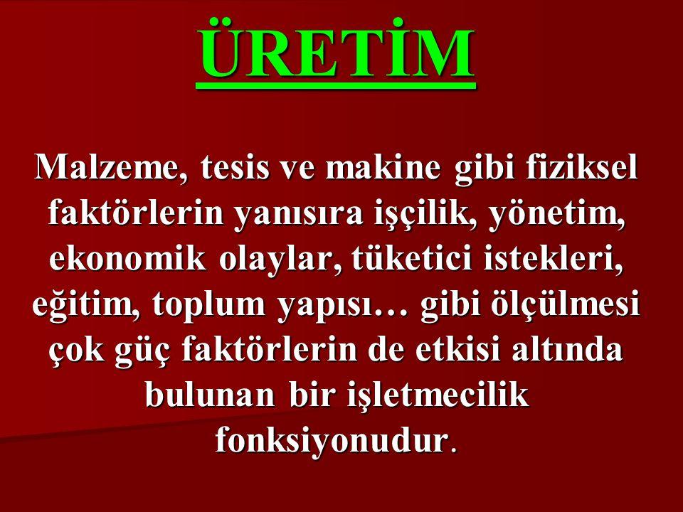 ÜRETİM