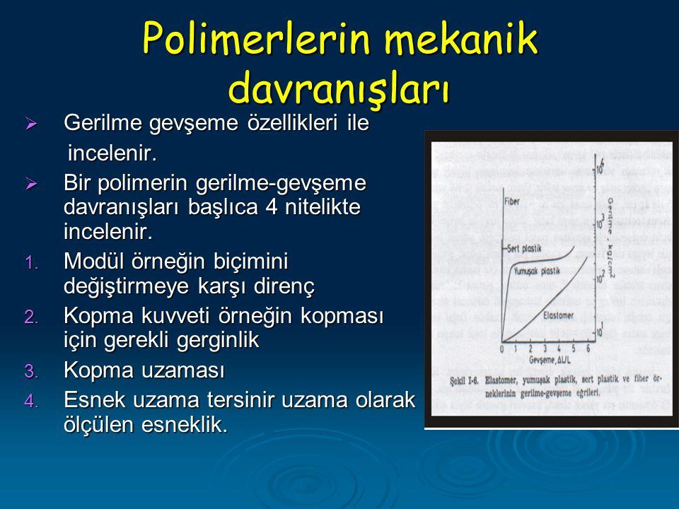 Polimerlerin mekanik davranışları