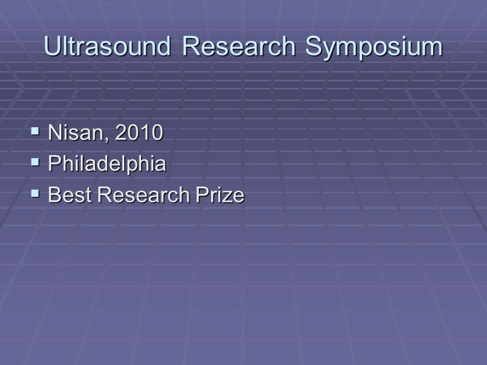 Ultrasound Research Symposium