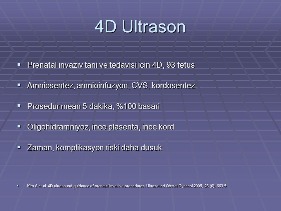 4D Ultrason Prenatal invaziv tani ve tedavisi icin 4D, 93 fetus