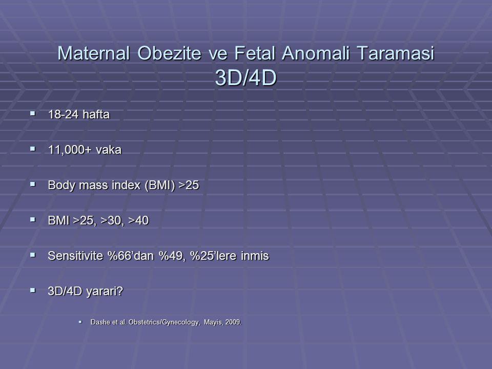 Maternal Obezite ve Fetal Anomali Taramasi 3D/4D