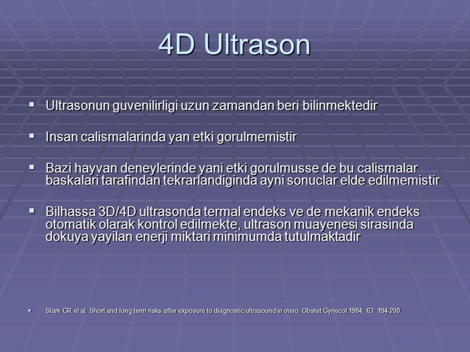 4D Ultrason Ultrasonun guvenilirligi uzun zamandan beri bilinmektedir