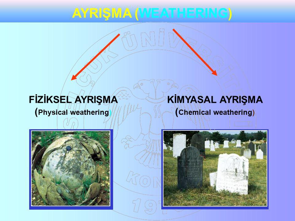 AYRIŞMA (WEATHERING) FİZİKSEL AYRIŞMA (Physical weathering)