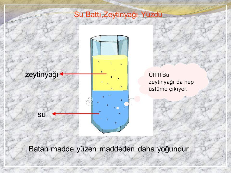 Su Battı,Zeytinyağı Yüzdü