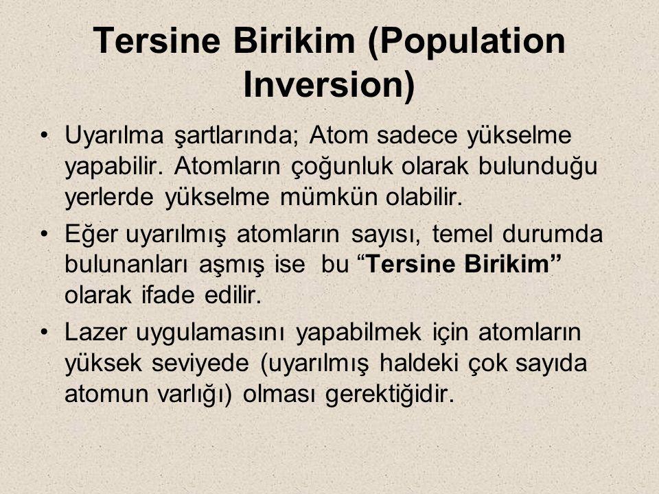 Tersine Birikim (Population Inversion)