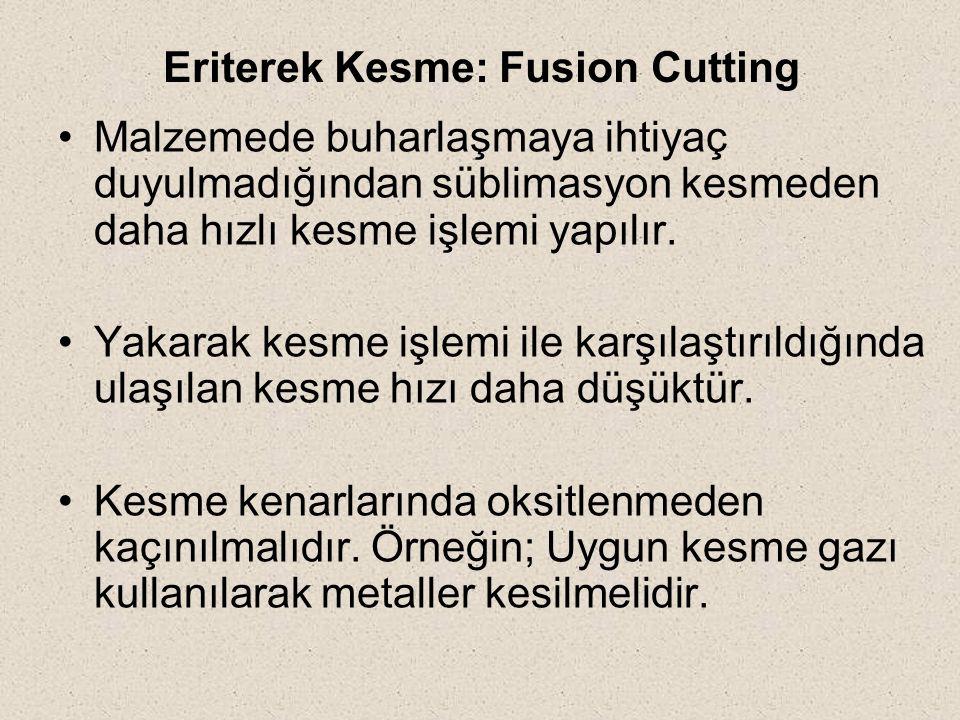 Eriterek Kesme: Fusion Cutting