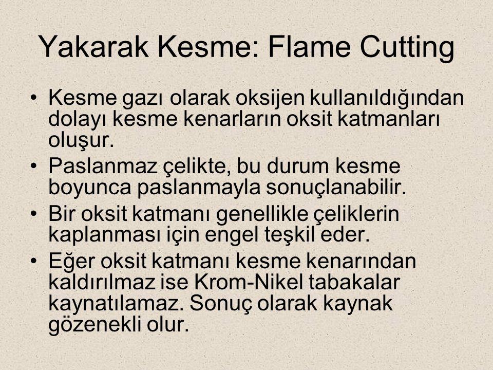 Yakarak Kesme: Flame Cutting