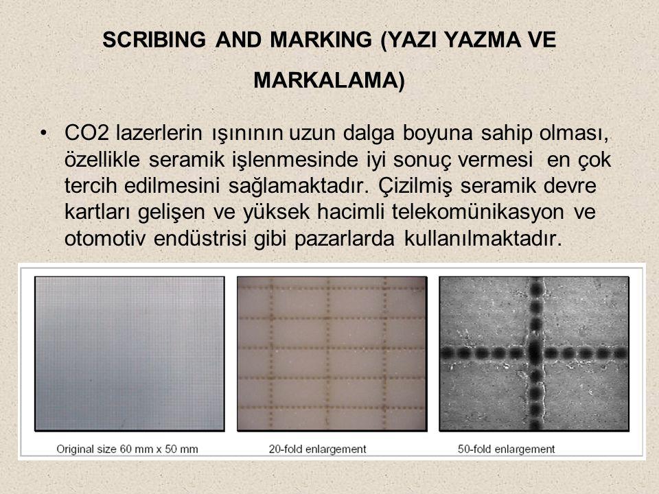 SCRIBING AND MARKING (YAZI YAZMA VE MARKALAMA)