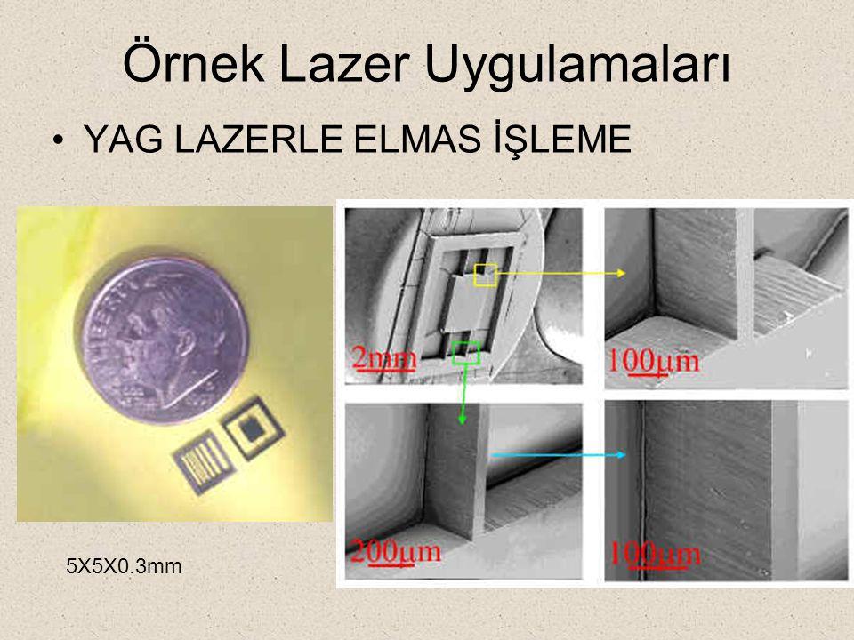 Örnek Lazer Uygulamaları