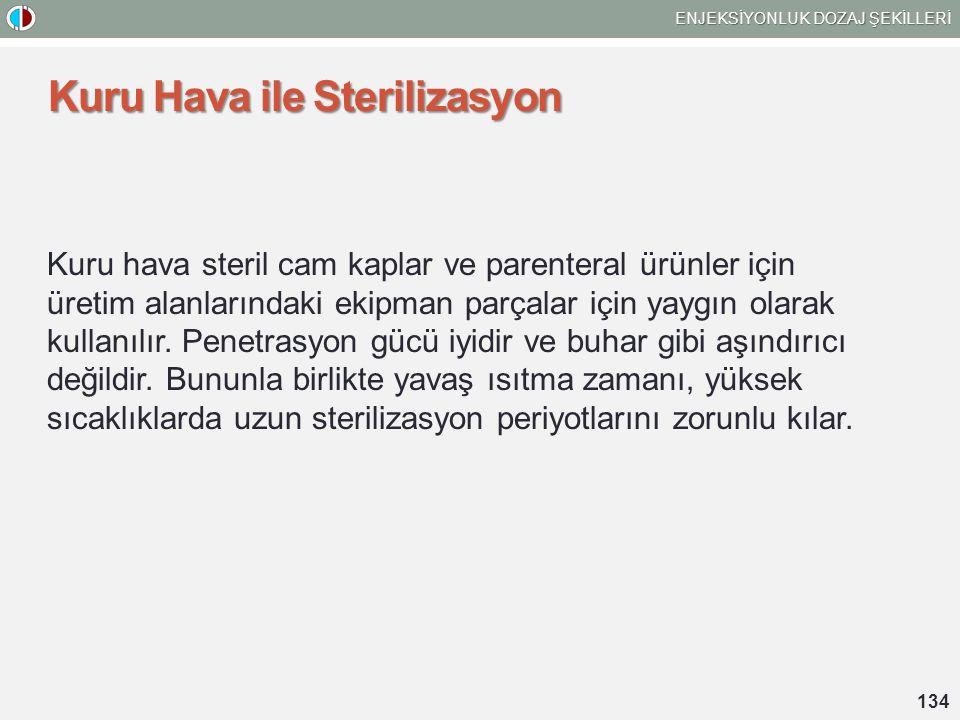 Kuru Hava ile Sterilizasyon