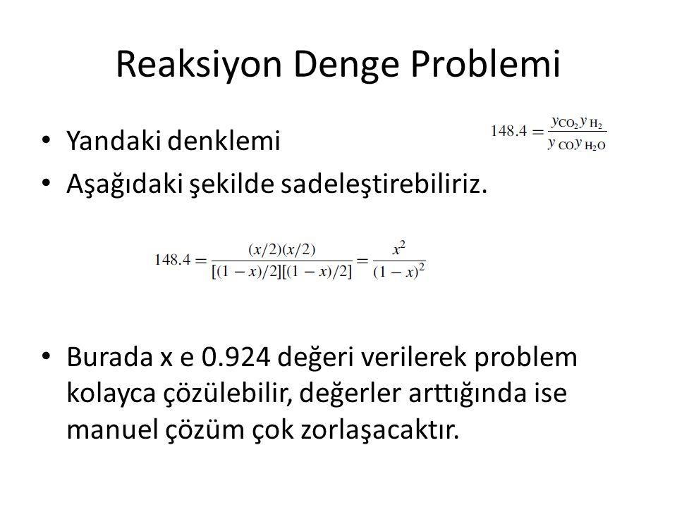 Reaksiyon Denge Problemi