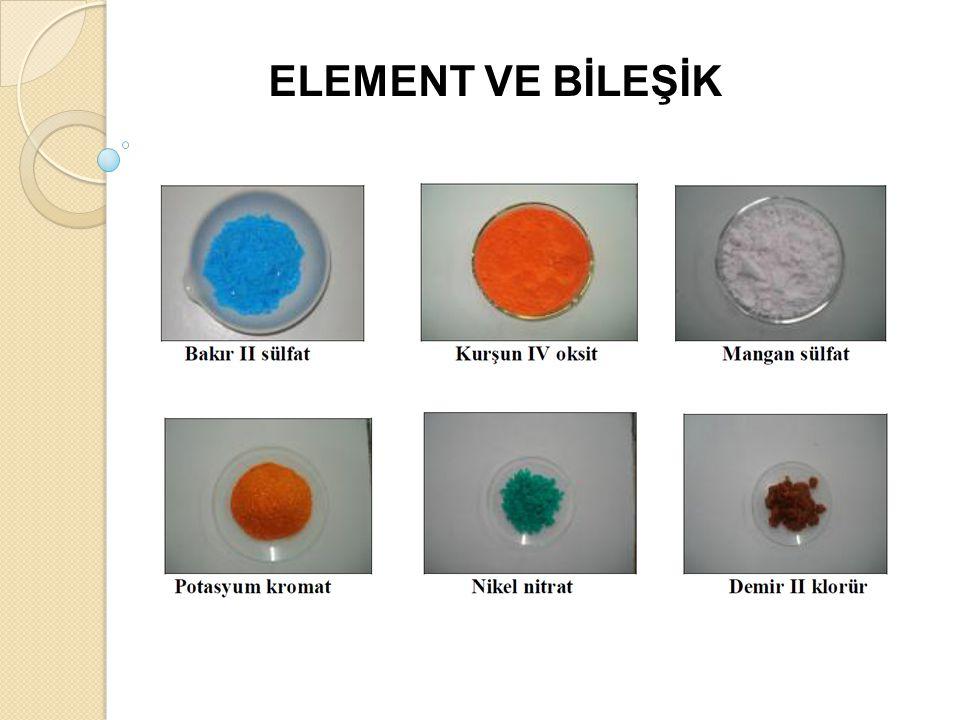 ELEMENT VE BİLEŞİK