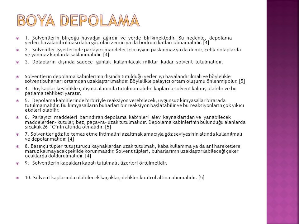Boya depolama